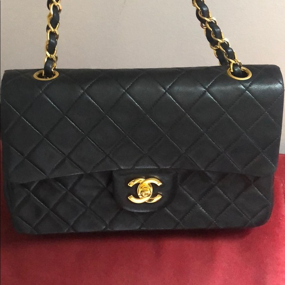 0375c794c5a3 CHANEL Handbags - CHANEL 2.55 Lambskin 9 quilted black Gold Plated